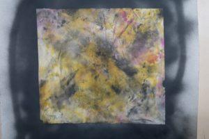 Unfolded sheet #1 (ink, paper)