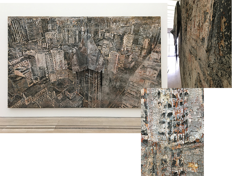 Anselm Kiefer 'Lilith', 1997 - oil, emulsion, shellac, acrylic paint, lead, hairs and ashes on canvas. Photos taken during my visit