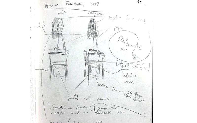 Stefan513593 - Sketches; Bruce Nauman 'Venice Fountain' (2007)