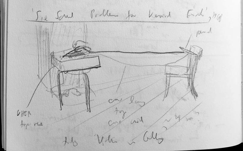 Stefan513593 - Sketches; Bruce Nauman 'Six Sound Problems for Konrad Fischer' (1968)
