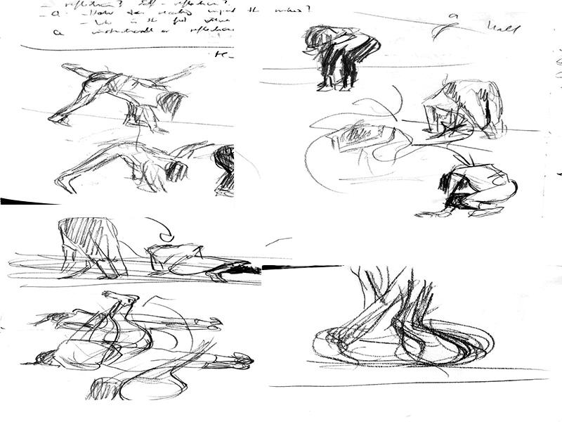 Stefan513593 - Sketches Performance; Bruce Nauman 'Wall-Floor Positions' (1968)