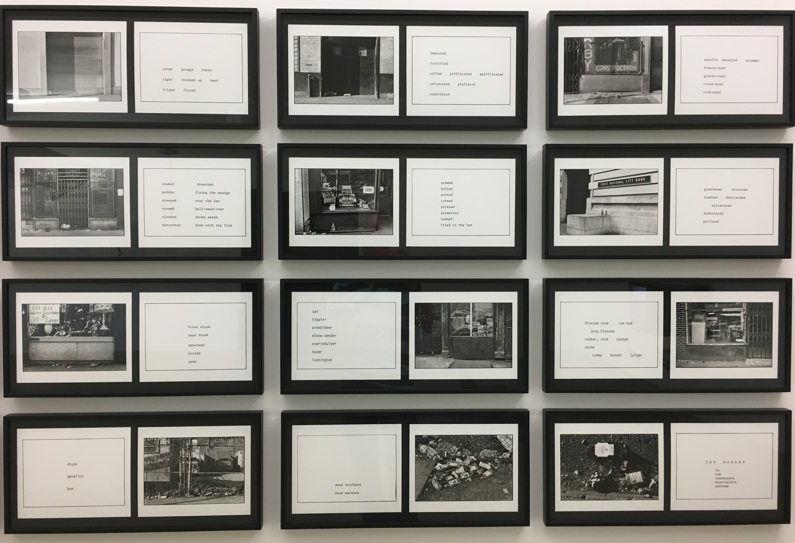 Martha Rosler 'The Bowery in two inadequate descriptive systems' (1974/75), photo: StefanJSchaffeld