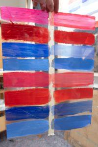 acrylic and oil paint on: rhenalon