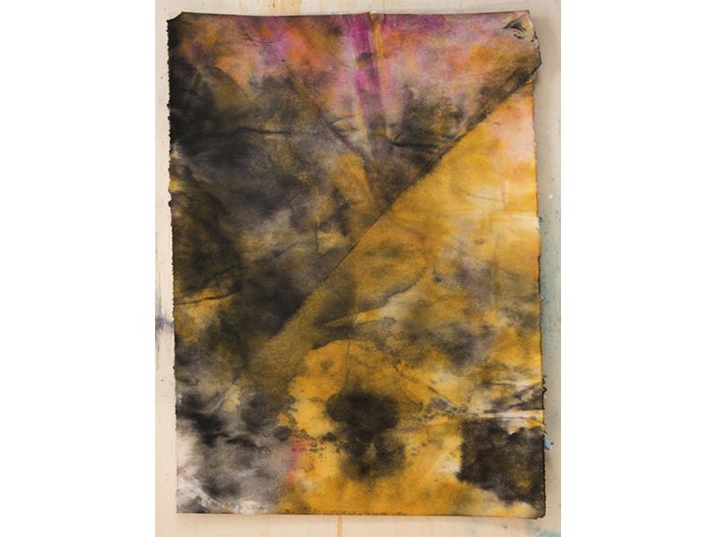 StefanJSchaffeld - Painting as folding - unfolding paper, 2018