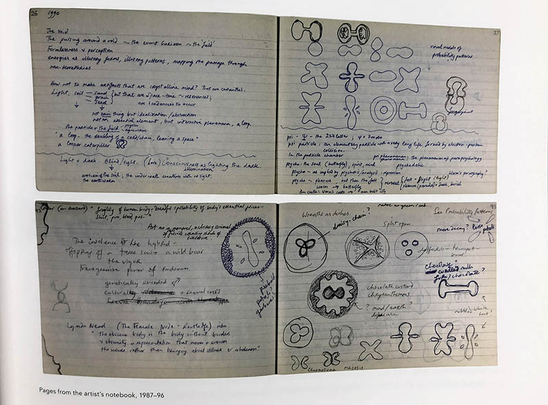 Helen Chadwick's sketchbook notes (book scan)