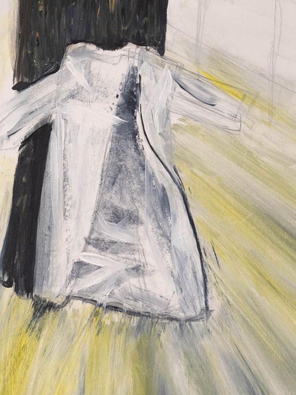 Mockup Patient Gown - a second skin, (c)SJSchaffeld, 2018