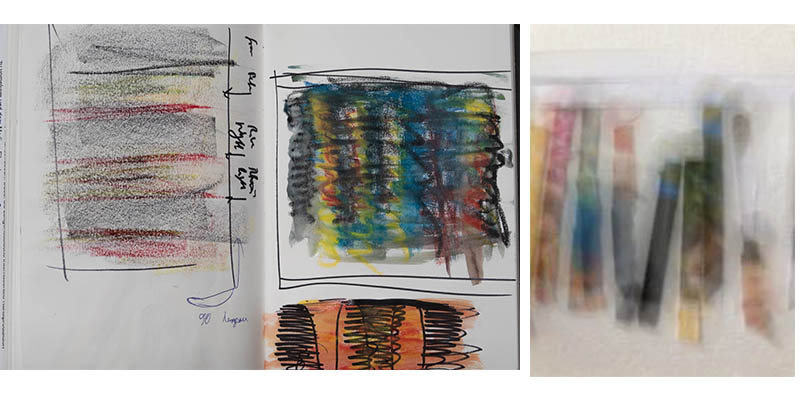 Stefan513593 - idea sketches - reflection , abstract striations