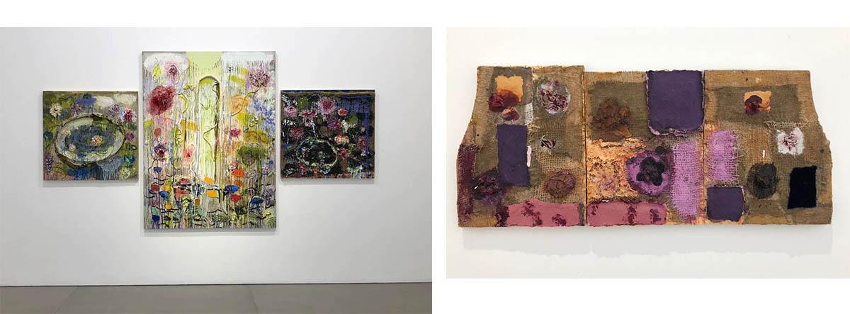 Joan Snyder - Summer Fugue, 2010 and Samll Rose Alter, 2014
