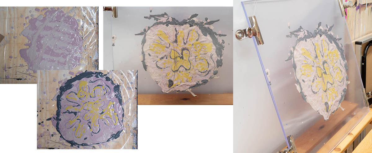 Fig. 7: plaster paint D // failure or a fragment?