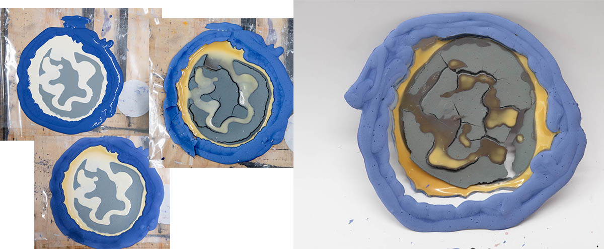 Fig. 8: plaster paint D2 // fragmentation of matter