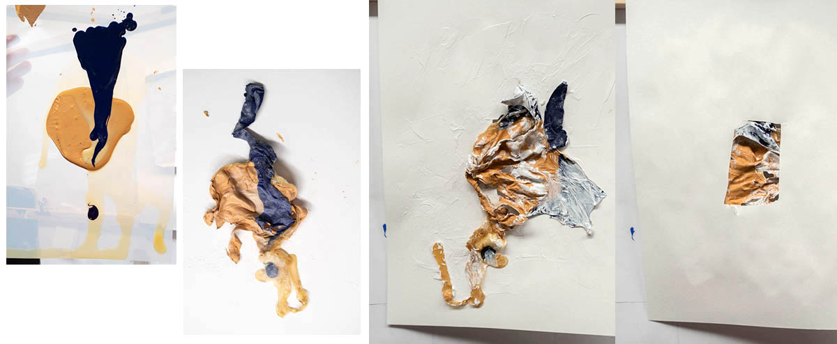 Fig. 9: latex paint // another kind of fragmentation - vulnerable to touch