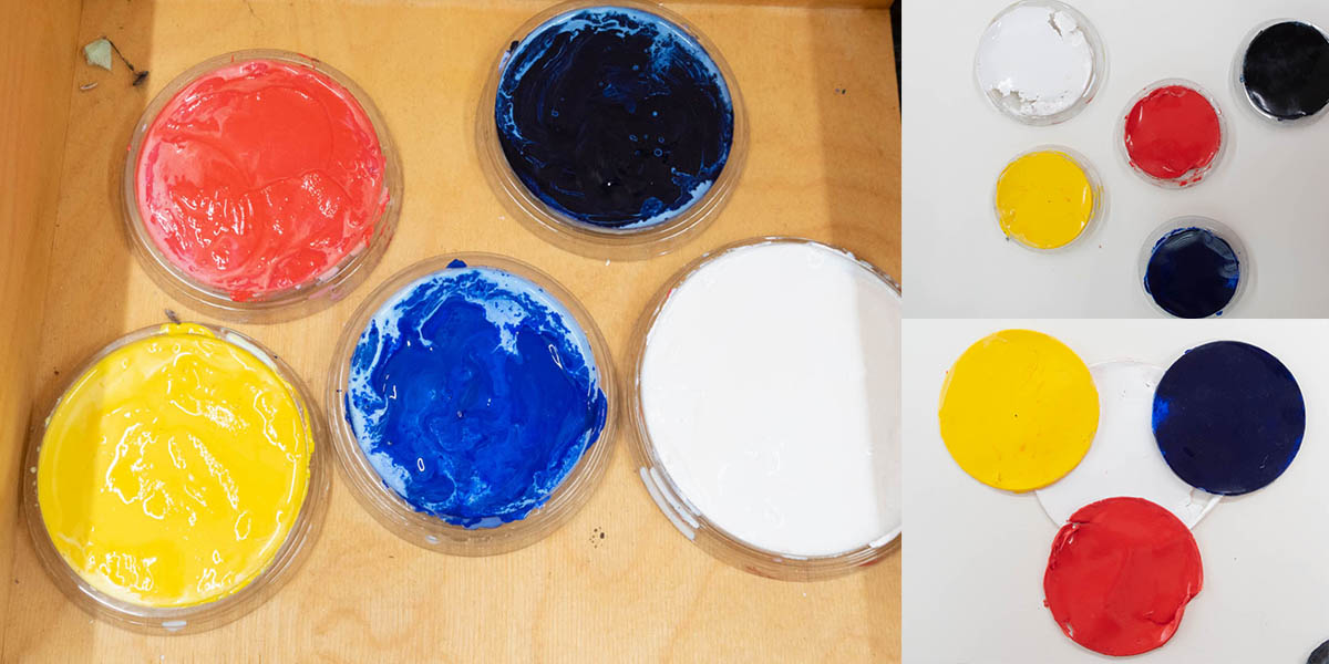 Fig. 4: preliminary testing // peelable paint and plastic lids