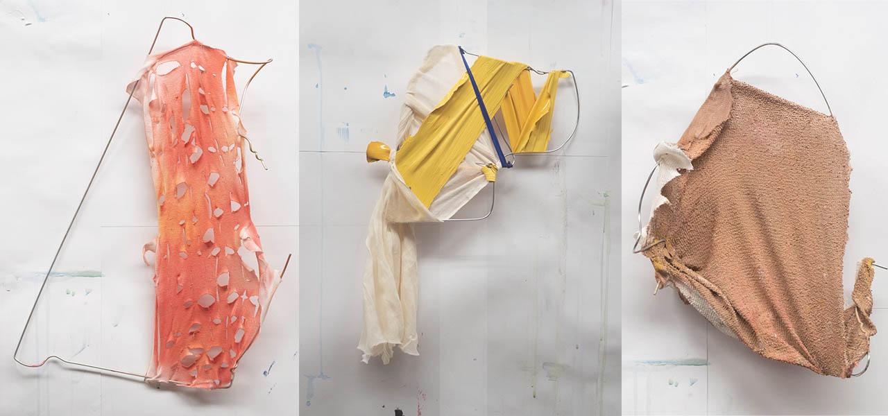 Fig. 3: A5 - 'Suspended Skin' - hanger sculptures