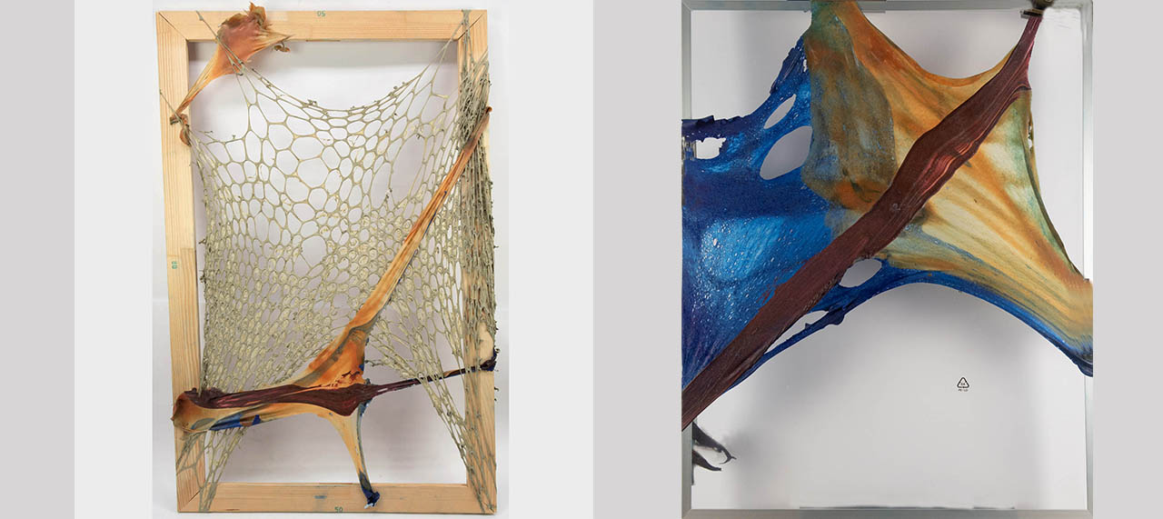 'Caught in the Net', 2019 and 'Gaze at Me no2', 2019 (reworked)
